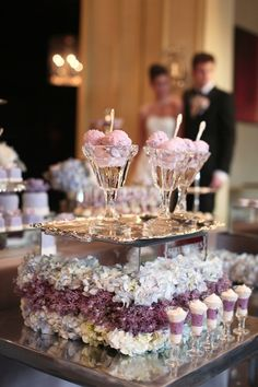 Nothing like a ice cream bar at your #wedding. Wedding by Melissa Andre Events