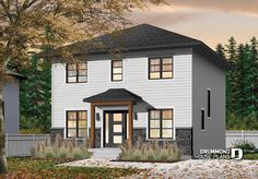 Transitional cottage design, low budget, 3 to 4 bedrooms, laundry room, kitchen island, open floor