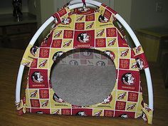 Beds Hammocks and Nesters 149074: Sm Handmade Fsu Seminoles Fabric Pup Tent Pet Bed/Doll Tent/Cat Bed/ Dog Bed BUY IT NOW ONLY: $30.0