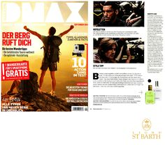 Ligne St Barth in the German Press: DMAX - featuring our Homme and Aloe Vera Gel www.LigneStBarth.com