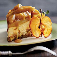 Caramel Apple-Brownie Cheesecake | If the title of this dessert recipe doesn't send you running for the kitchen, then you need to read it again. | SouthernLiving.com