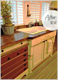 *faking the front of a farmhouse sink* My Heart's Song: Double Wide With Farmhouse Style Mobile Home Redo, Mobile Home Makeovers, Mobile Home Living, Mobile Home Decorating, Interior Decorating, Decorating Ideas, Interior Design, Mobile Home Renovations, Remodeling Mobile Homes