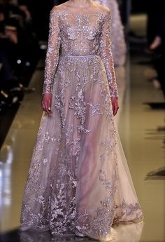 Chiffon and Ribbons by Elie Saab Couture Spring/Summer 2013. Dreamy.