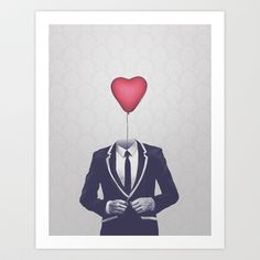 Mr. Valentine Art Print by Davies Babies - $17.99