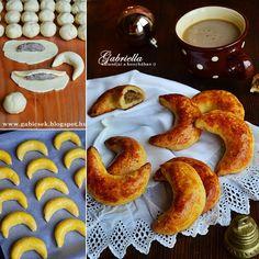 Diós pozsonyi kifli Doughnut, Biscuits, French Toast, Cookies, Breakfast, Cake, Recipes, Pizza, Christmas