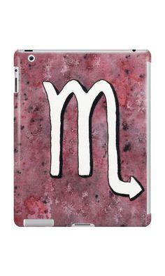 """Zodiac sign : Scorpio"" iPad Cases & Skins by Savousepate on Redbubble #ipadcase #tabletcase #ipadskin #tabletskin #astrology #astrologicalsign #zodiacsign #scorpio #purple #burgundy #black #white #watercolorpainting"