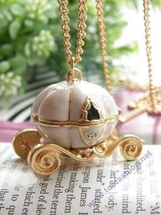 pumpkin carriage necklace