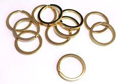 10 x Schlüsselring Schlüsselringe 3 cm 30 mm Durchmesser GOLD in Heimwerker, Eisenwaren, Sonstige | eBay