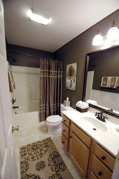 modern bathroom colors brown color shades chic bathroom interior ...