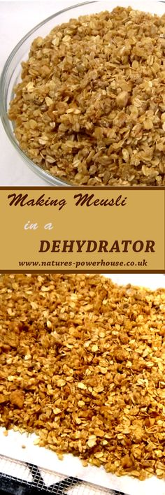 A basic recipe for making crunchy muesli in your dehydrator Basic Recipe, Personal Taste, Rolled Oats, Muesli, Make It Simple, Make It Yourself, Breakfast, Health, Easy