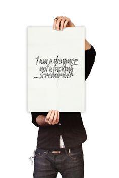 I am a designer, not a fuc***g screwdriver by Lukasz Kulakowski, via Behance