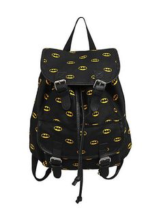 b1445381014 Batman Backpack DC Comics Dark Knight Logo Backpack Slouch Buckle Book Bag    eBay Batman Bag