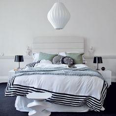 Bed room / white & black