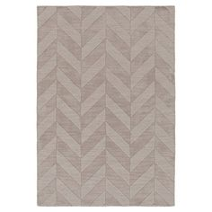 Add a touch of subtle style to your parlor or powder room with this hand-woven wool rug, featuring a chevron-inspired motif in a neutral palette.