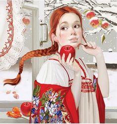 by Russian illustrator Tatiana Doronina ~ looks like my granddaughter, Donna