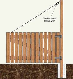 wooden gates doors with wire cable | How To Make A Wood Gate & Gate Posts - Woodworking Plans - Part 3 #woodworkingplans