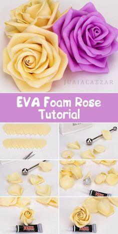 EVA Foam Rose Tutorial   Как сделать розу из фоамирана