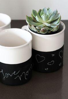 Mother's Day Handmade Gift Ideas : Chalkboard Mugs : PepperDesignBlog.com