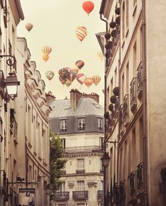 Paris by irene suchocki #hotairballoon