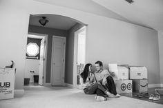 I did a photoshoot of first-time home-owners in their new house. They were taking a break from their work. :)