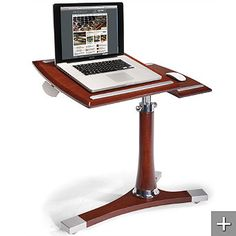 Mahogany Executive Laptop Caddy