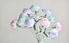 flowers made of tissue paper