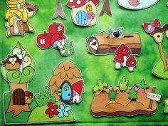 "I adore this #fairy #playmat!! And it's made using #printables! What a great idea...so easy! Check out the fairy ""snack"" garden! I love the worm and the apple condos. Who's hiding in the hollow log?"