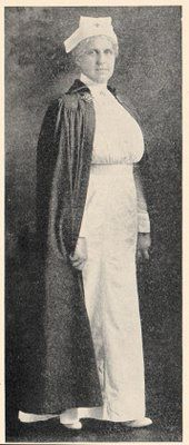 Old Photo - Nurse in Uniform - The Graphics Fairy