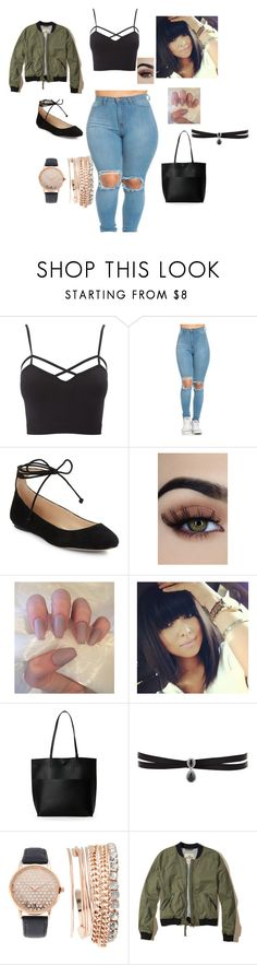"""let's go"" by fashionnmia on Polyvore featuring Charlotte Russe, Karl Lagerfeld, Street Level, Fallon, Jessica Carlyle, Hollister Co. and plus size clothing"