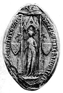 Catherine I of Courtenay (25 November 1274 – 11 October 1307) was Titular Empress of Constantinople from 1283 to her death in 1307. In 1301, she became the wife of Charles of Valois. Upon her father's death, Catherine inherited his claims to the Latin throne of Constantinople and was recognized as empress by the Latin states in Greece, despite the city having been re-taken by the Empire of Nicaea in 1261.