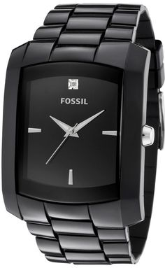 Capri Jewelers Arizona ~ www.caprijewelersaz.com Fossil Quartz, Black Polyurethane Band Black Dial - Men's Watch #FS4602