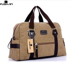 [Visit to Buy] New Fashion men women handbag casual canvas travel duffle bags men travel duffle bags women travel duffel bags #Advertisement