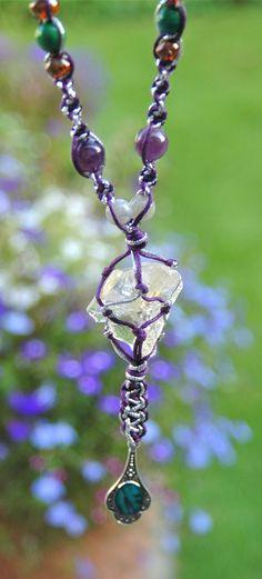 Raw citrine macrame necklace, boho jewellery by TessHeaven on Etsy https://www.etsy.com/uk/listing/249636947/raw-citrine-necklace-raw-crystal-macrame?ref=shop_home_active_16