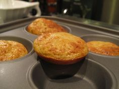 """Dukan oatbran """"Muffins"""" - I double the recipe quantities, use Vanilla fat-free yoghurt and bake them up in 6 muffin cases for 17 minutes at 180C - perfect."""