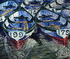 Boats 199 & 179 painting by Jeremy Winborg
