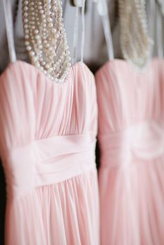 Pretty Pink Brides Maids Dresses #DonnaMorganEngaged