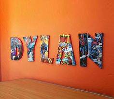 Use MDF wooden letters, a couple of comic books and Mod Podge to create these colorful Comic Book Letters!