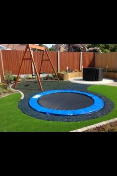 Built in trampoline. I've never seen anything like this before. So cool!
