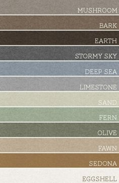 Paint Colors and a great template for decorating your home.