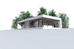 Funkishus U-1000. Funkishus og moderne boliger fra Urbanhus, tilpasset dine individuelle behov. Arkitekttegnet og spesialtilpassede hus.