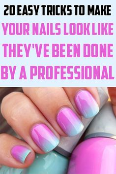 Goddess Magazine: 20 Easy Tricks To Make Your Nails Look Like They've Been Done By A Professional