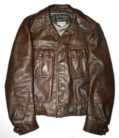 Vintage Sears Roebuck and Co. Leather Jacket