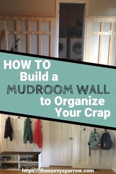 Need mudroom ideas for your entryway? Learn how to turn a blank wall into a DIY mudroom wall for storage and organization. This farmhouse mudroom idea is perfect if you only have a small wall to use for your DIY mudroom and you don't have room to build ou Mud Room Garage, Mudroom Laundry Room, Bench Mudroom, Mud Room Lockers, Car Garage, Wabi Sabi, Small Mudroom Ideas, Small House Storage Ideas, Bench With Storage