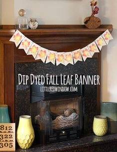 Make your own Dip Dyed Fall Leaf Banner with this easy tutorial!