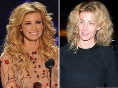 Faith Hill without makeup. Whoa, now I feel a lot better about how I look when I'm roughing it! :D