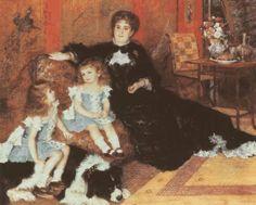 Pierre-Auguste Renoir - Portret pani Charpentier z dziećmi