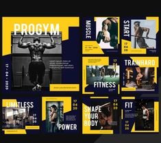10 Gym Healthy Lifestyle Social Media Templates PSD, Vector EPS and AI. 1200x1200 px Social Media Banner, Social Media Template, Social Media Design, Social Media Graphics, Youtube Banner Design, Web Banner Design, 10 Gym, Media Campaign, Event Banner