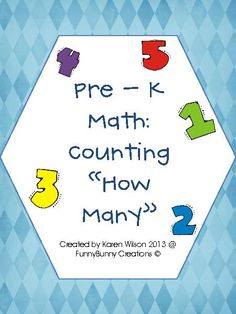 Pre - K Math; Counting aligned with the Common core