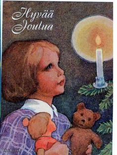 Rudof Koivu Norwegian Christmas, Old Christmas, Merry Christmas And Happy New Year, Scandinavian Christmas, Xmas, Vintage Cards, Vintage Postcards, Holiday Cards, Christmas Cards