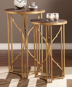 Take a look at this Alaina Accent Table Set on zulily today!